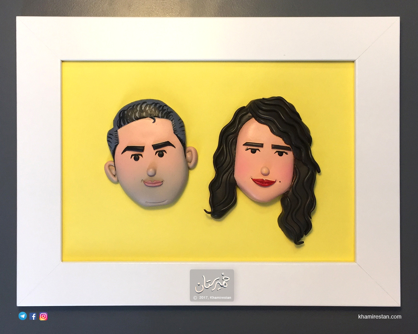 Yellow Framed couple